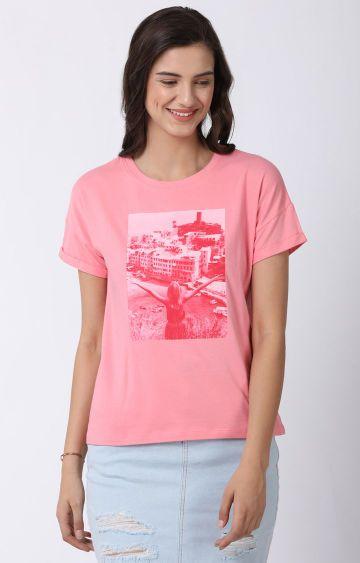 Blue Saint | Pink Printed Top