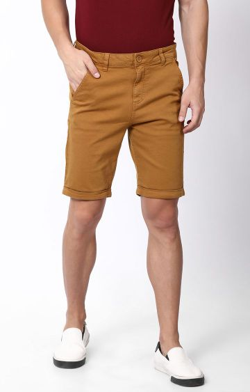 Blue Saint | Brown Solid Shorts