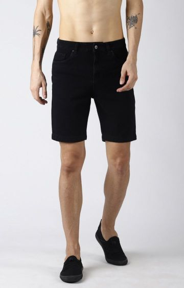 Blue Saint | Black Solid Shorts
