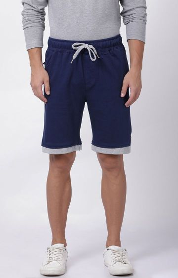 Blue Saint | Navy Solid Shorts