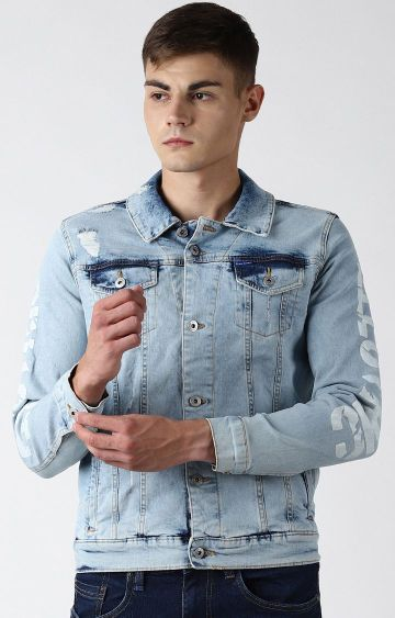 Blue Saint | Blue Ripped Denim Jacket