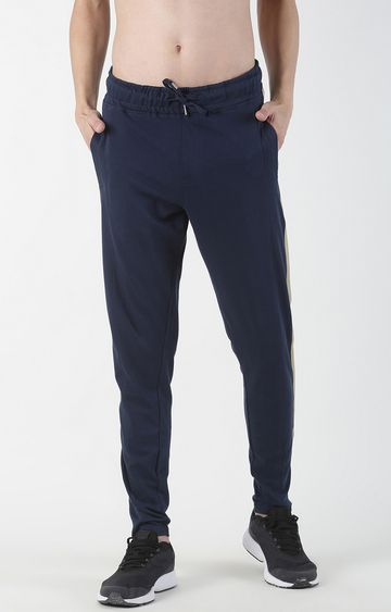 Blue Saint | Navy Solid Trackpants