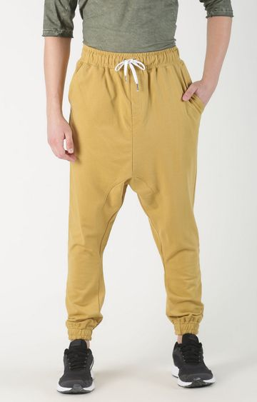 Blue Saint   Yellow Solid Casual Joggers