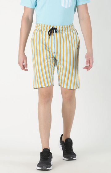 Blue Saint | Yellow Striped Shorts
