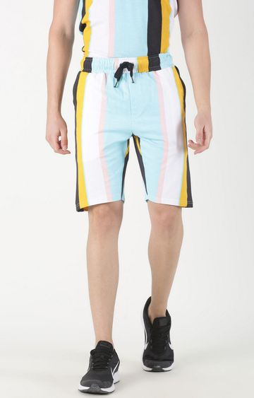 Blue Saint | Multicoloured Striped Shorts