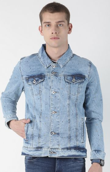 Blue Saint | Blue Solid Denim Jacket