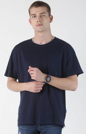 Blue Saint | Navy Solid T-Shirt