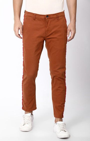 Blue Saint   Brown Tapered Chinos