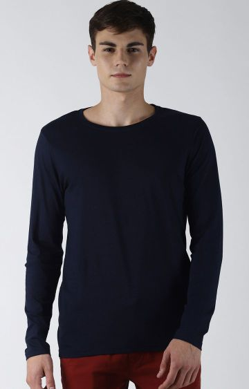 Blue Saint | Navy Solid T-Shirt