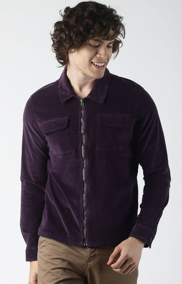 Blue Saint | Purple Solid Casual Shirt