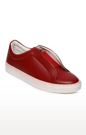 Blue Saint | Red Casual Slip-ons