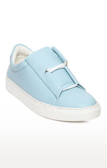 Blue Saint | Light Blue Casual Slip-ons