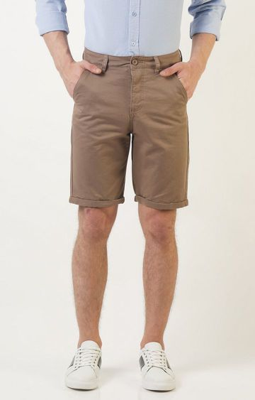 Blue Saint | Light Brown Solid Shorts