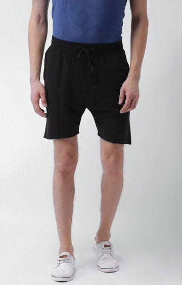 Blue Saint | Black Solid Shorts