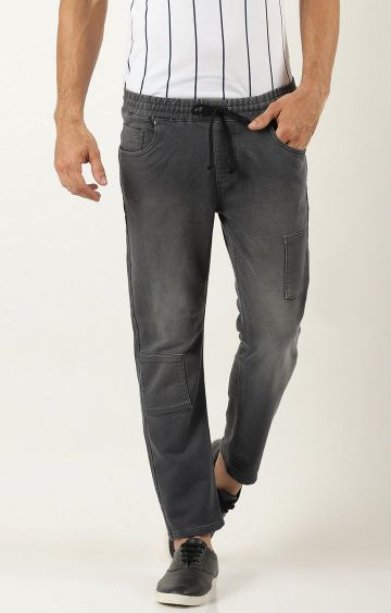 Blue Saint | Grey Solid Straight Jeans
