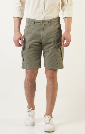Blue Saint | Olive Solid Shorts