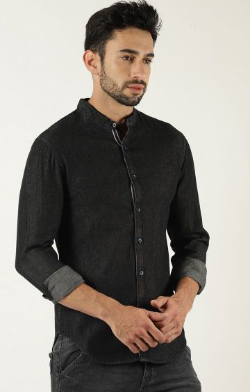 Blue Saint | Black Solid Casual Shirt