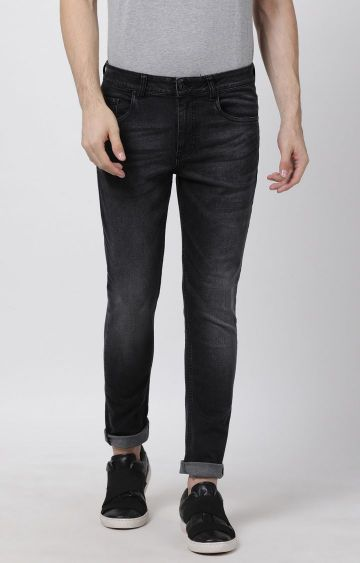 Blue Saint | Charcoal Solid Straight Jeans