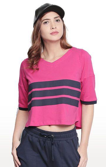 Cult Fiction | Pink Striped T-Shirt