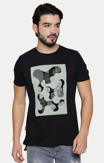 Cult Fiction | Black Printed T-Shirt