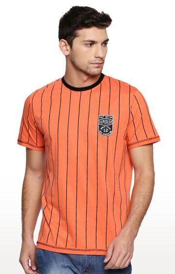 Cult Fiction | Orange Striped T-Shirt