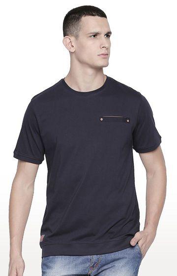 Cult Fiction | Blue Solid T-Shirt