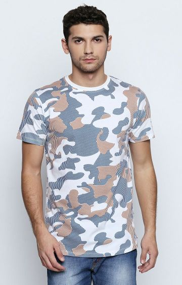Cult Fiction | Blue Printed T-Shirt