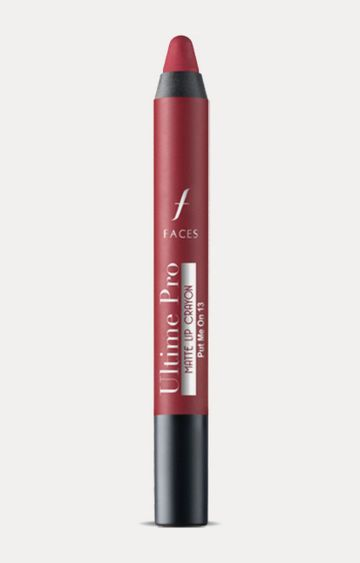 Faces Canada | Ultime Pro Lip Crayon - Matte Put me with Free Sharpener