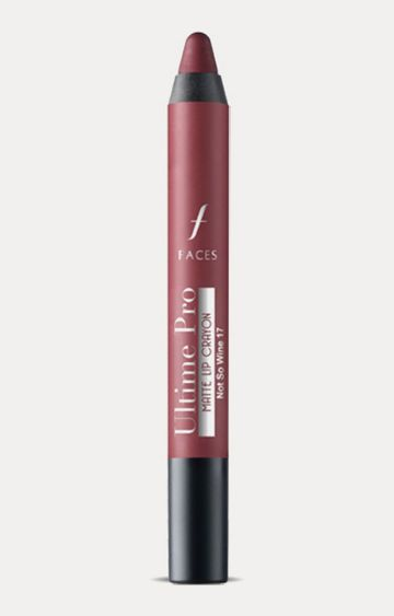 Faces Canada | Ultime Pro Lip Crayon - Matte Not So Wine 17 with Free Sharpener