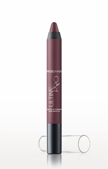 Faces Canada | Date Night 33 Ultime Pro Matte Lip Crayon with Free Sharpener (2.8 GM )
