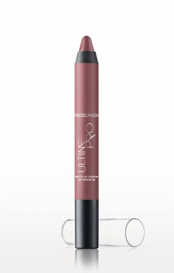 Faces Canada   My Desire 38 Ultime Pro Matte Lip Crayon with Free Sharpener (2.8 GM)