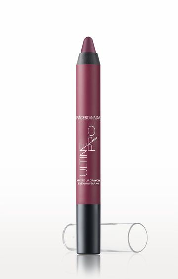 Faces Canada   Evening Star 40 Ultime Pro Matte Lip Crayon with Free Sharpener (2.8 GM)