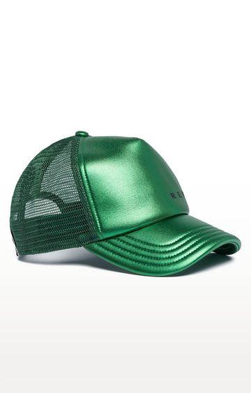 REPLAY | Laminated Green Printed Baseball Cap