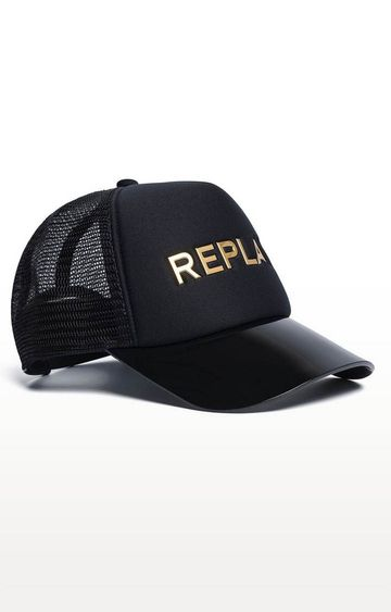 REPLAY | Black Printed Baseball Cap