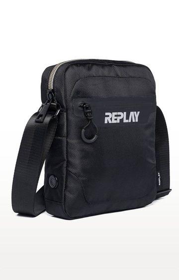 REPLAY | Black Messenger Bag