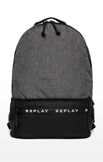REPLAY | Dark Grey and Black Backpack