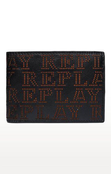 REPLAY | Black and Orange Wallet