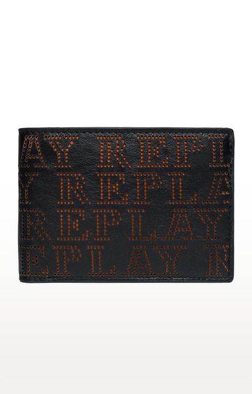 REPLAY | Black and Orange Wallet