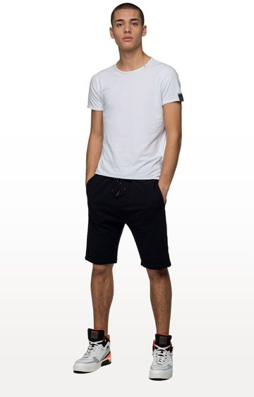 REPLAY | Black Solid Shorts