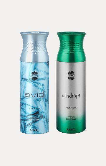 Ajmal | Avid and Raindrops Deodorants - Pack of 2