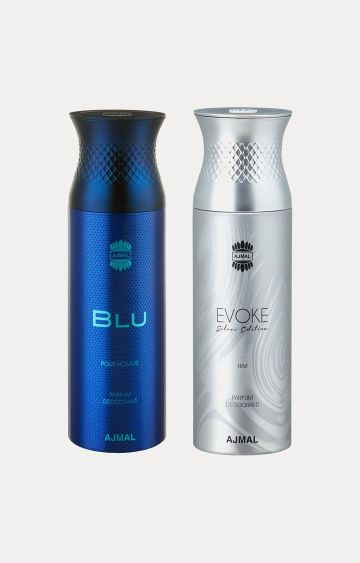 Ajmal | Blu and Evoke Silver Him Deodorants - Pack of 2
