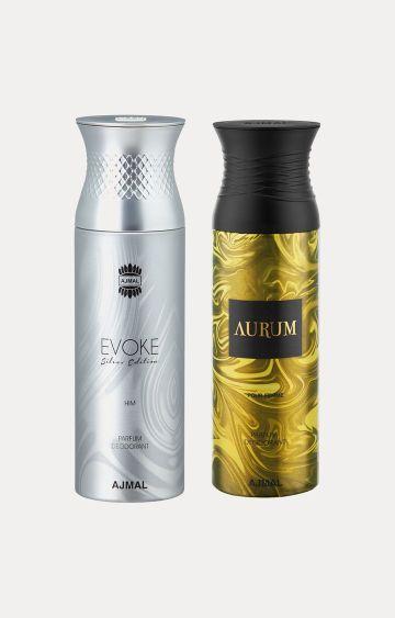 Ajmal | Evoke Silver Him and Aurum Deodorants - Pack of 2