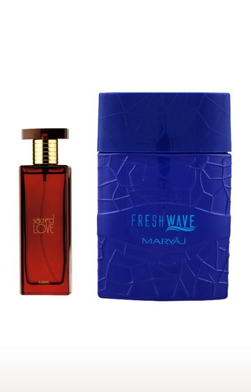 Ajmal | Sacred Love EDP (50 ML) and Maryaj Fresh Wave EDP (100 ML) - Pack of 2