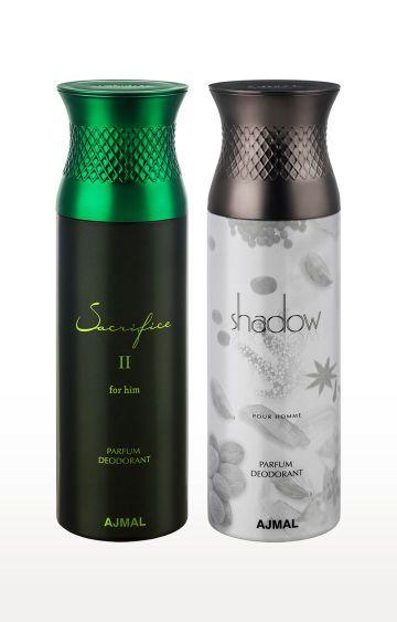 Ajmal | Sacrifice II and Shadow Deodorant - Pack of 2