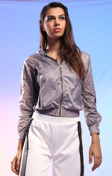 Myriad | Grey Striped Activewear Jacket