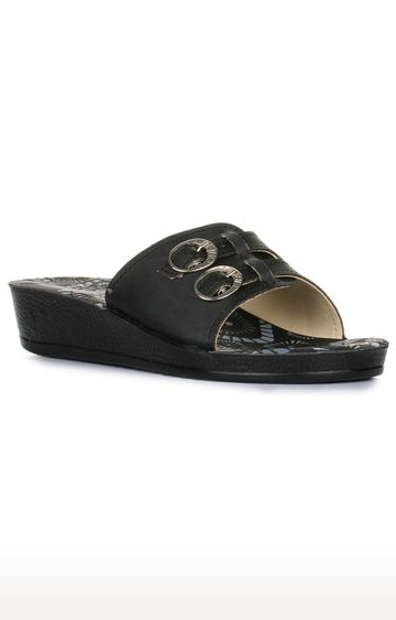 Liberty | A-HA by Liberty Black Slip-ons