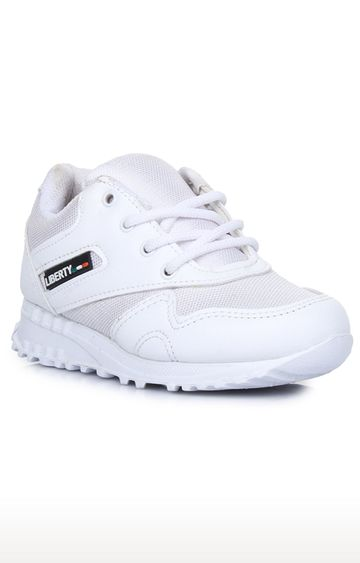 Liberty | Force 10 by Liberty Unisex White Indoor Sports Shoes