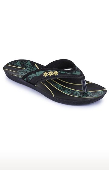 Liberty | A-HA by Liberty Black Flip Flops