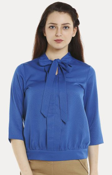 109F | Blue Solid Top