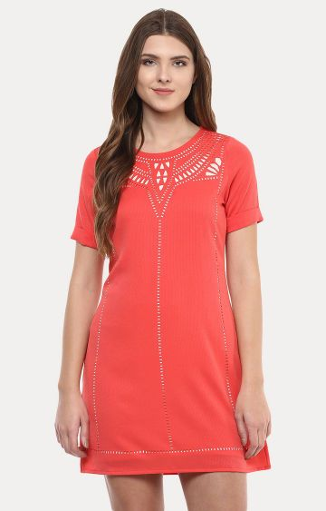 109F | Coral Front Design Tunic
